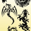 Stock Photo: Dragons silhouette vector