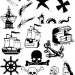 Stock Photo: Pirates silhouette collection