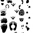 Traces silhouette collection — Stock Photo