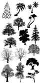 Sagome di albero vettoriale. — Foto Stock