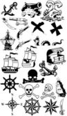 Collection silhouette pirates — Photo