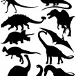 Dinosaur vector collection — Stock Photo