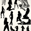 Stock Photo: Fashion sexy women silhouettes