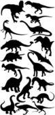 Dinozor vektör toplama — Stok fotoğraf