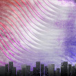 Big city skyline, textural retro background — Stock Photo #4441948