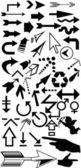 Lots of black arrows — Stock Photo