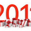 Stock Photo: Gifts for New Year 2011