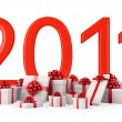 Gifts for New Year 2011 - Stock Photo