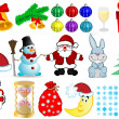 Vector illustration a Christmas set — Stock Vector