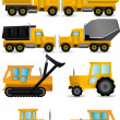 Stock Vector: Construction machines vector