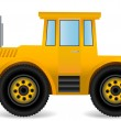 Vector illustration the yellow traktor. - Stock Vector