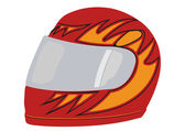 Vector a red racing helmet — Stock Vector