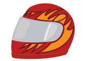 Vector um capacete de corrida vermelho — Vetor de Stock