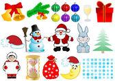 Vector illustration a Christmas set — Stock Vector