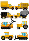Construction machines vector — Stock Vector
