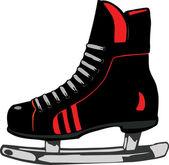 Vector illustratie hockey schoeisel — Stockvector