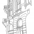 Old building  vector - Image vectorielle