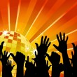 Crowd And Starburst vector background - Image vectorielle