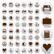 Stock Vector: Business and transport icon set vector