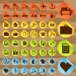 Business and transport icon set vector - 