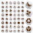 Tourist and packaging icon set - 