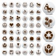 Tourist and packaging icon set - Stock Vector