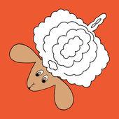 Sheep vector background hand draw cartoon — Stock Vector