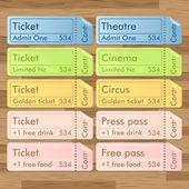 Vintage cinema tickets vector — Stock Vector