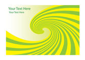 Green and yellow Whirlpool vector — Vettoriale Stock