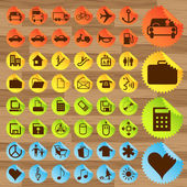 Business and transport icon set vector — Stock Vector
