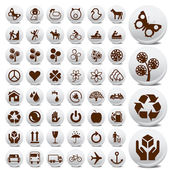Tourist and packaging icon set — Stock Vector