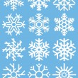 Snowflakes background vector for winter and Christmas — Stock Vector