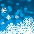 Snowflakes background vector for winter and Christmas — Image vectorielle