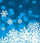 Fiocchi di neve sfondo vettoriale per l'inverno e natale — Vettoriale Stock