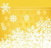 冬のクリスマス雪背景ベクトル — ストックベクタ