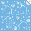 Stock Vector: Vector winter house background