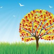 Colorful tree vector background — Image vectorielle