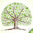 Colorful tree vector background - Stock Vector
