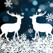 Deer Christmas vector background — Stock Vector