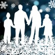 Christmas holiday happy family vector background — Stock Vector #4008647