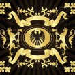 Royalty-Free Stock Vector Image: Golden Coat of Arms with Griffins vector background