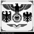 Eagle coat of arms heraldic - Stock Vector