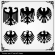 Stock Vector: Eagle coat of arms heraldic