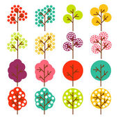 Colorful tree vector background — 图库矢量图片