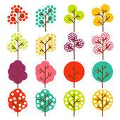 Fond de vecteur arbre coloré — Vecteur