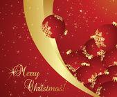 圣诞背景矢量与平安夜树装饰 — 图库矢量图片