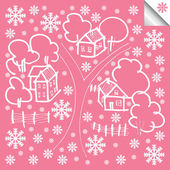 Vector winter house background — Stock Vector