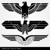 Blason aigle héraldique — Vecteur