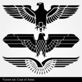 Eagle coat of arms heraldic — Vecteur