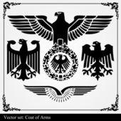Eagle wapenschild heraldische — Stockvector